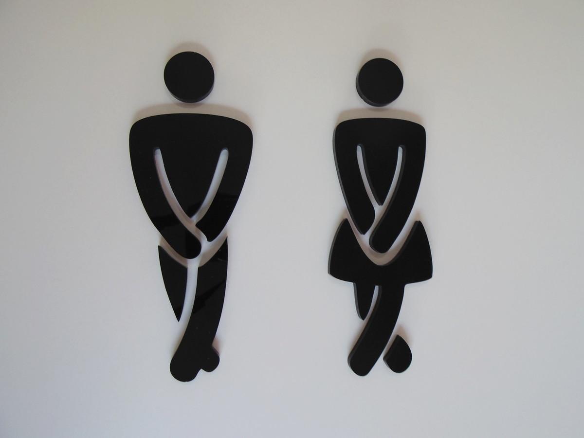 Lei Banheiro Masculino Feminino : S?mbolo masculino feminino banheiro design