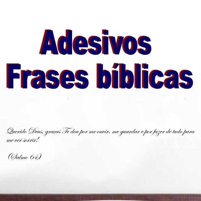 Adesivo Frases Bíblicas Evangélico