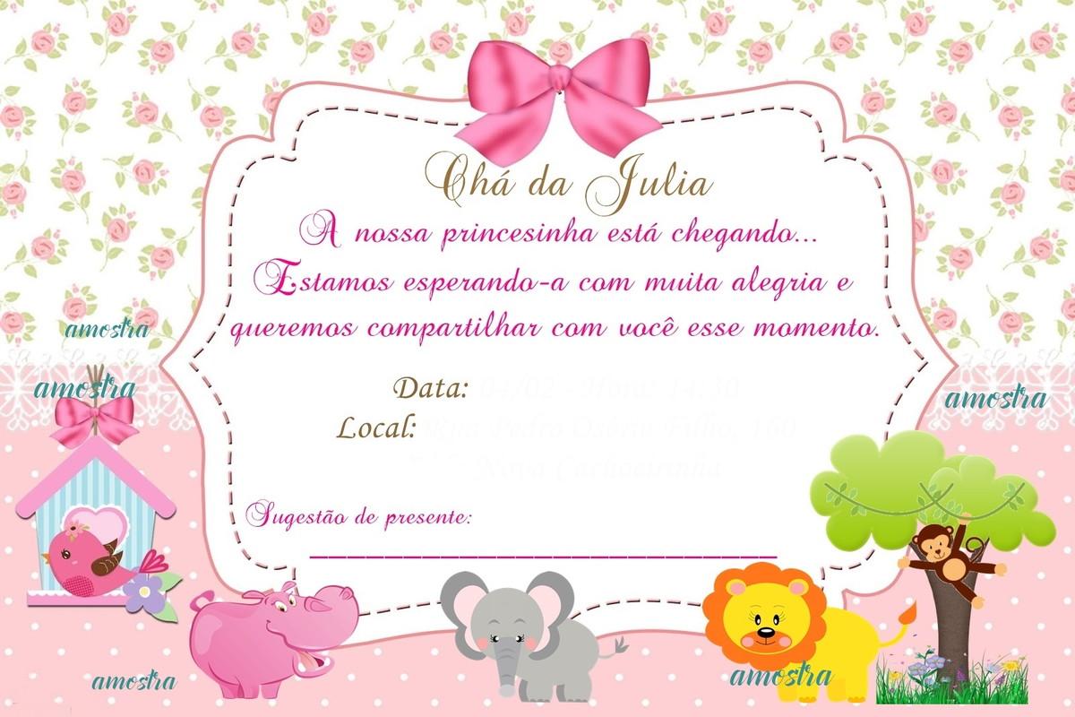 Convite Safari Rosa No Elo7 Acriativa Presentes 85ccb9