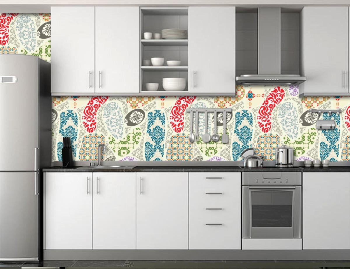 zoom papel de parede para cozinha azulejos