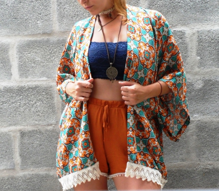f122d0ec03 Comprar Kimono Feminino Estampado no Elo7