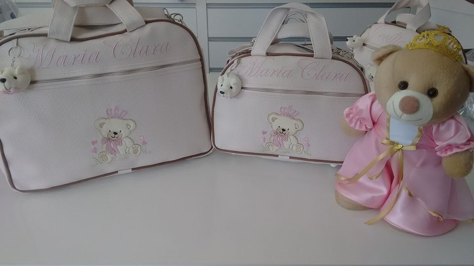 257797230 Kit Bolsas marfim nudê com Rosa Nome no Elo7 | VariedadesEnxovais ...