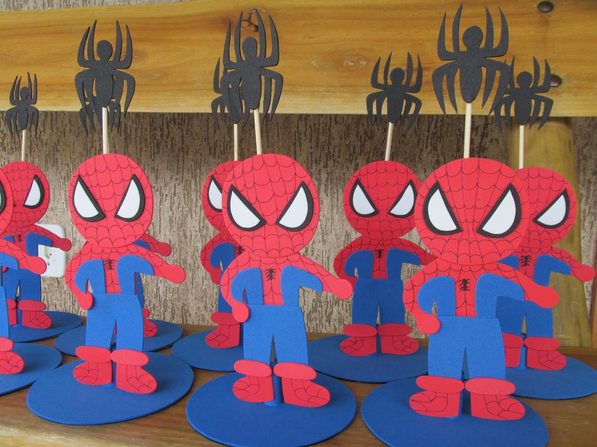 Homem Aranha enfeite de mesa no Elo7 Surpresas e Cia (863FE0) -> Enfeites De Mesa Do Homem Aranha
