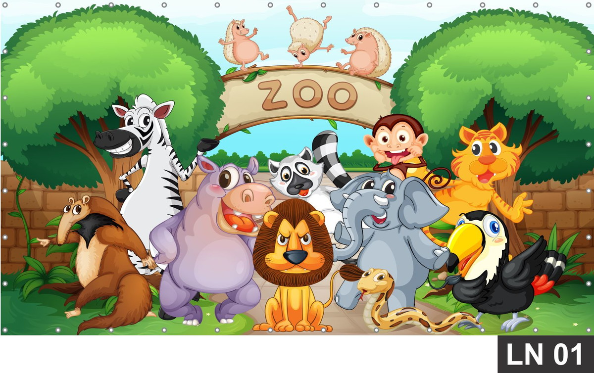 painel zoologico 1 50x1 00m decorestock elo7 infant clip art free infant clipart