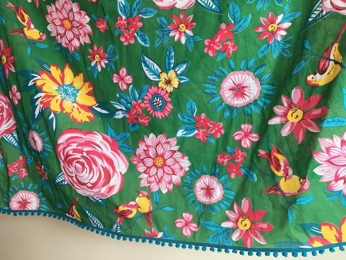 Cortina Chita Floral Verde Com Pompom No Elo7 Hariane Massuia 822743