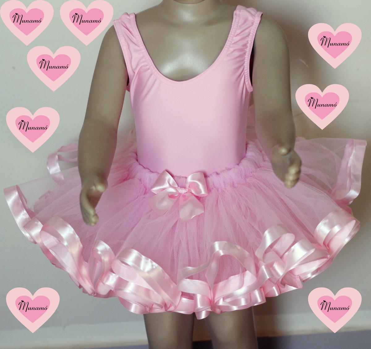 5ec3416845 Conjunto bailarina rosa bebê no Elo7