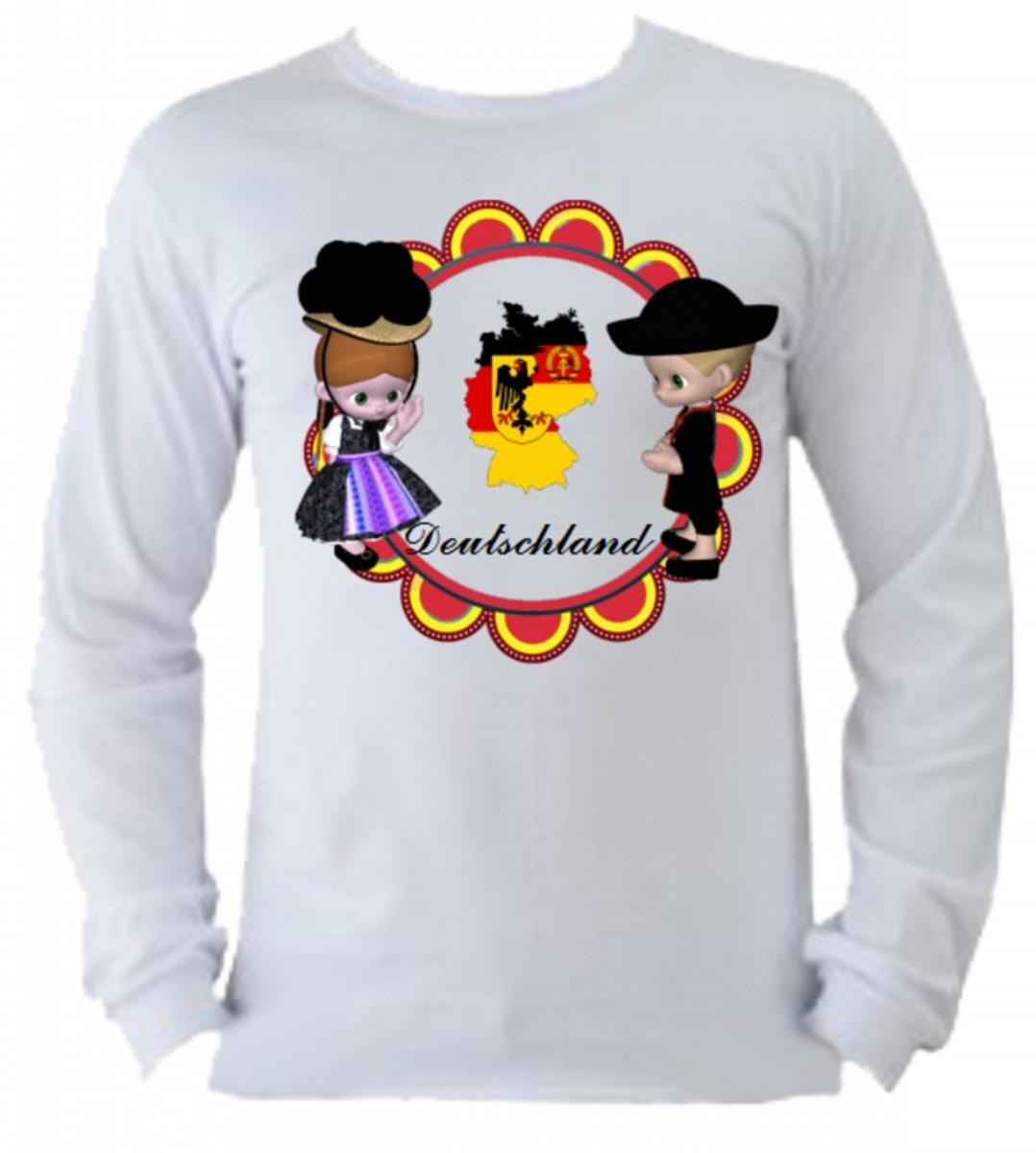 Camiseta Alemanha manga longa 1 no Elo7  77d0b31b82350