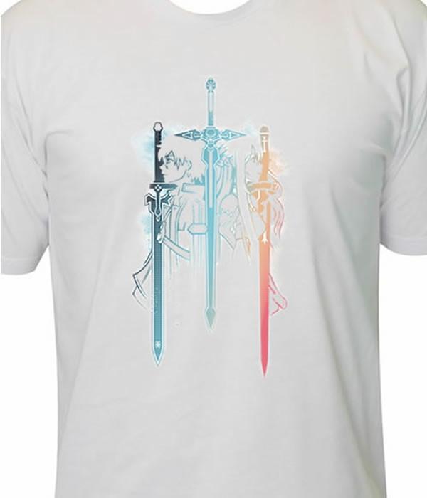 6e7a23cba Camiseta Sword Art Online SAO no Elo7