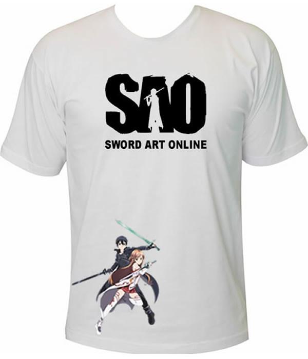 232d8877d Camiseta Sword Art Online Kirito E Azuna no Elo7
