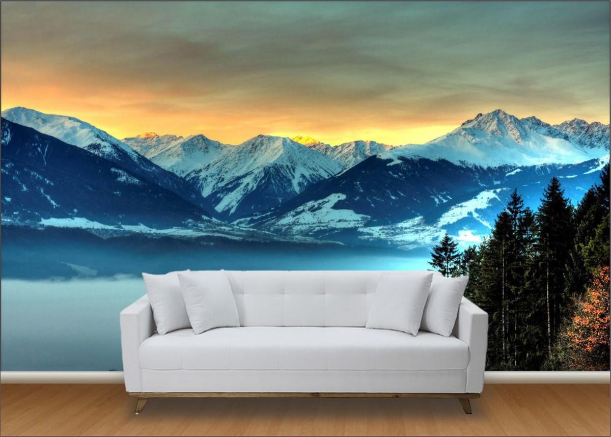 Papel de parede 3d paisagens neve up adesivos 3d elo7 - Papel pared 3d ...