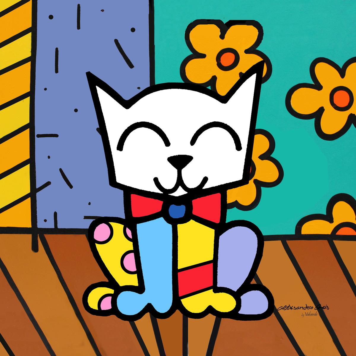 Quadro Impr Dig 30x30 Pop Art Gato No Elo7 Atelier Valverde