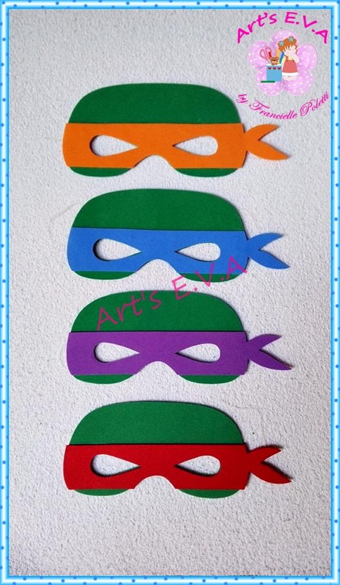 Mascara Tartarugas Ninja No Elo7 Arts E V A 86ee8e