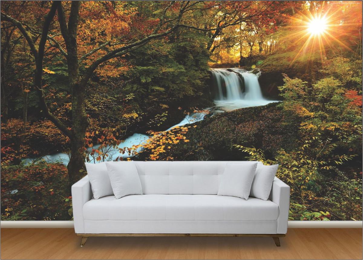 Papel de parede 3d paisagens cachoeira up adesivos 3d for Papel de pared paisajes