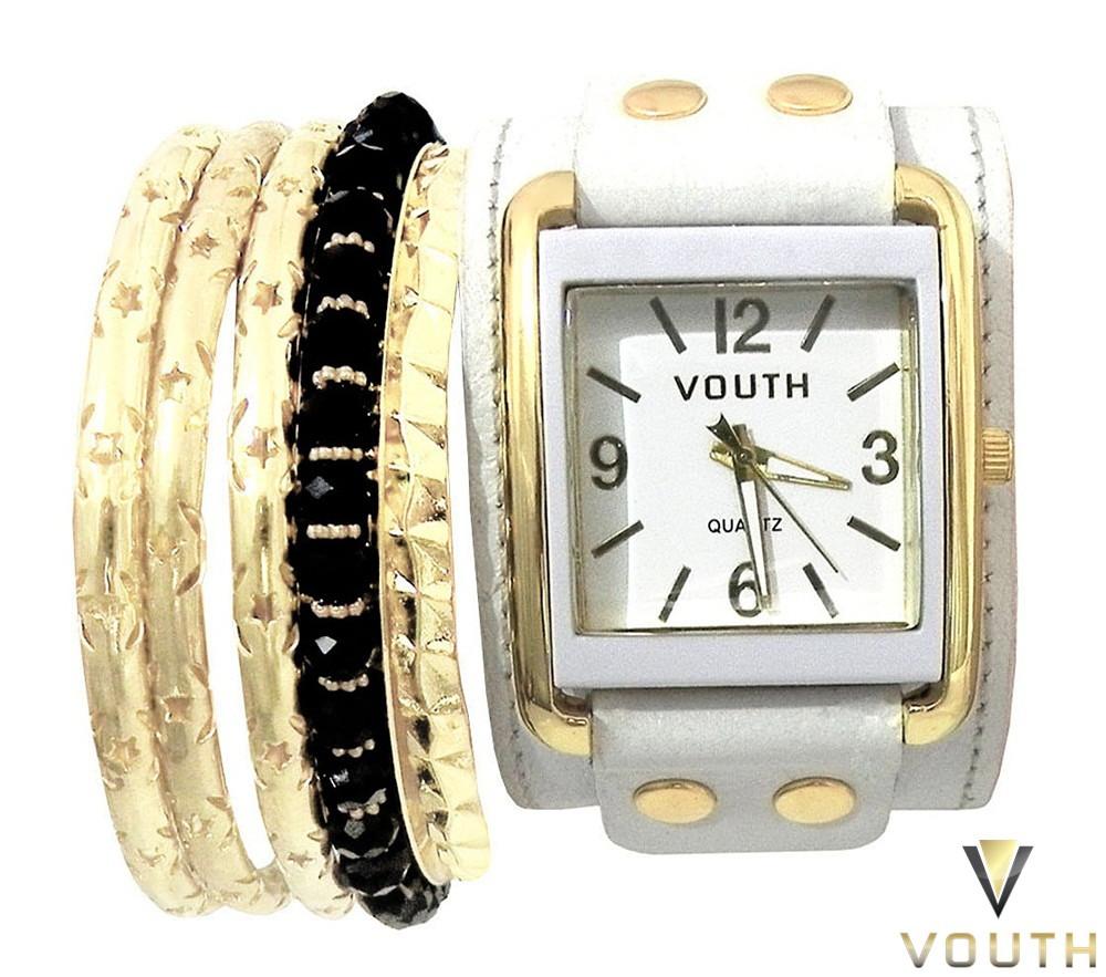 b2ba92d61 Relógio Feminino Bracelete Couro Branco no Elo7 | Passarella Brasil ...