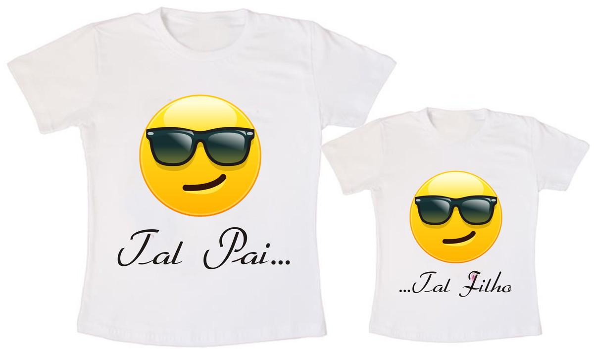 cee969889606ba Camiseta Tal Pai Tal Filho Emoticons