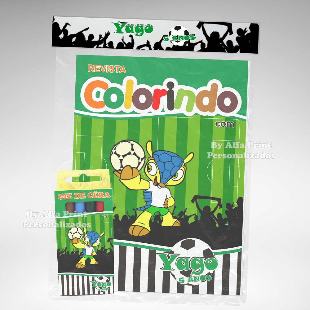 Kit Colorir Futebol Brindes