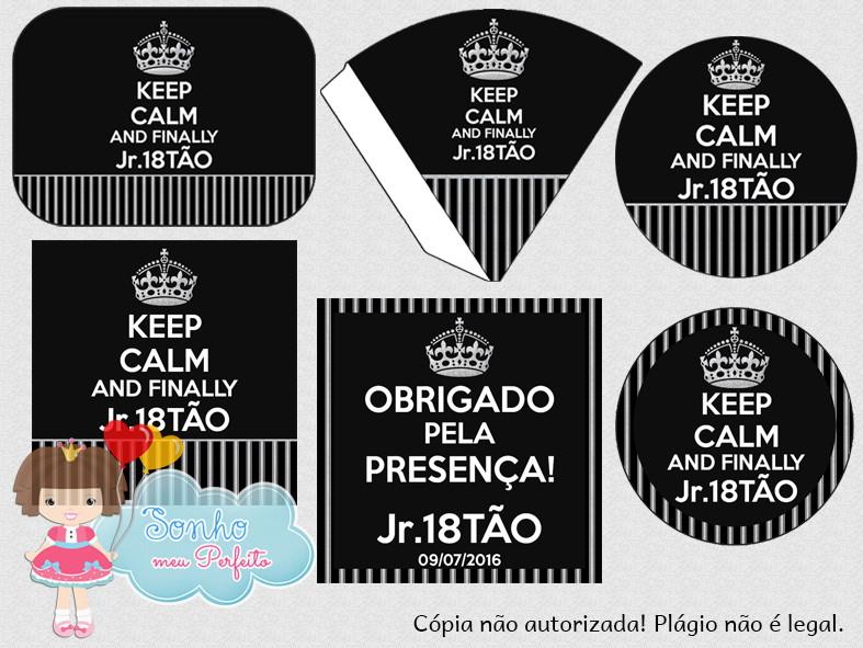 Kit Digital - Keep Calm No Elo7