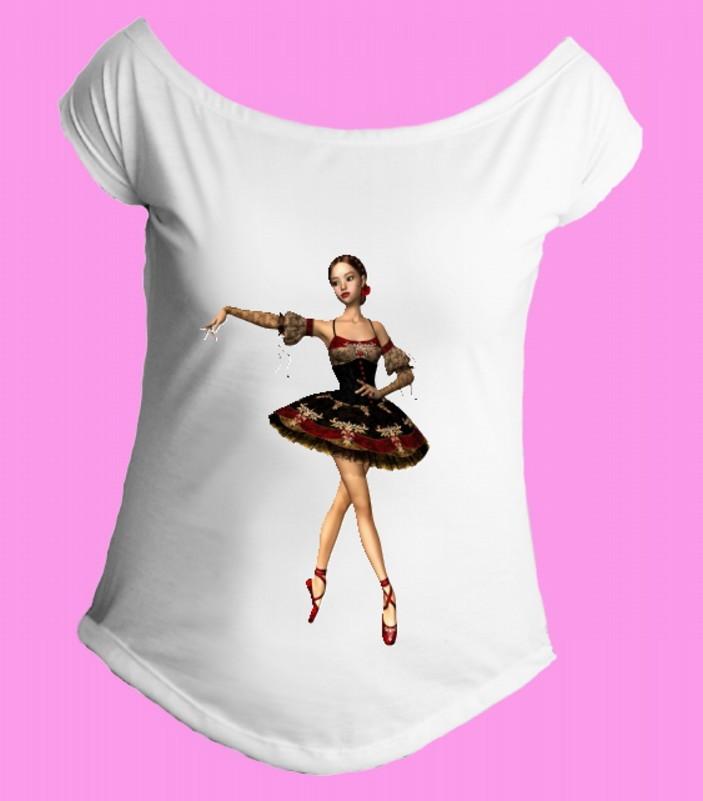 26a6358a4af0b Camiseta Bale-Bailarina gola canoa 5 no Elo7