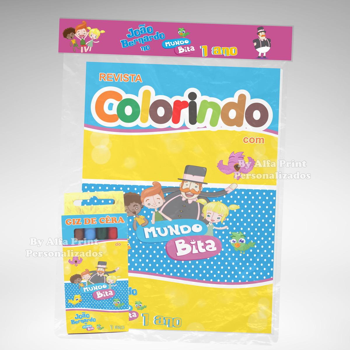 Kit Colorir Mundo Bita Brindes No Elo7 Alfa Print