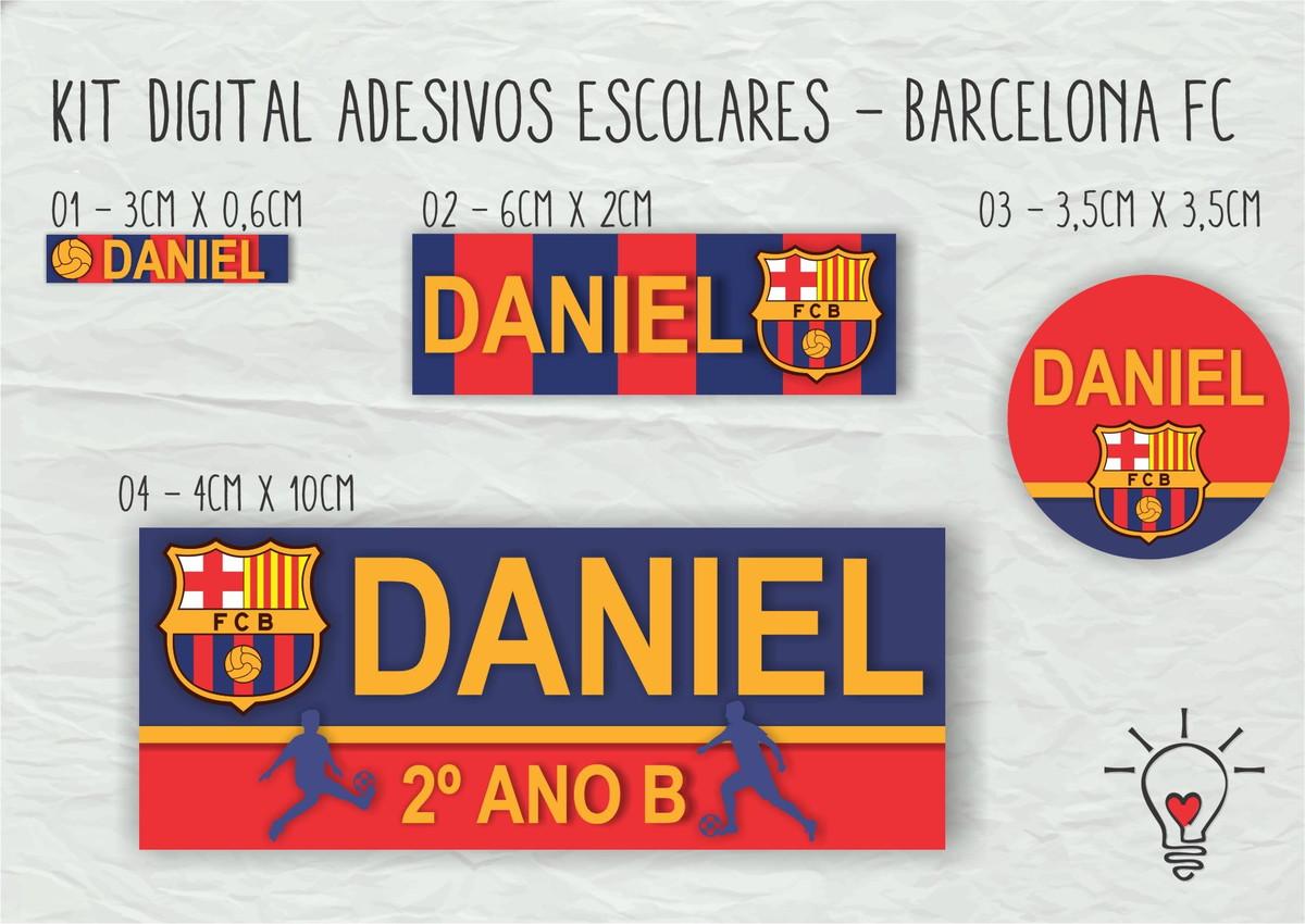 Kit etiquetas escolares - Barcelona FC no Elo7  7599c936312c6