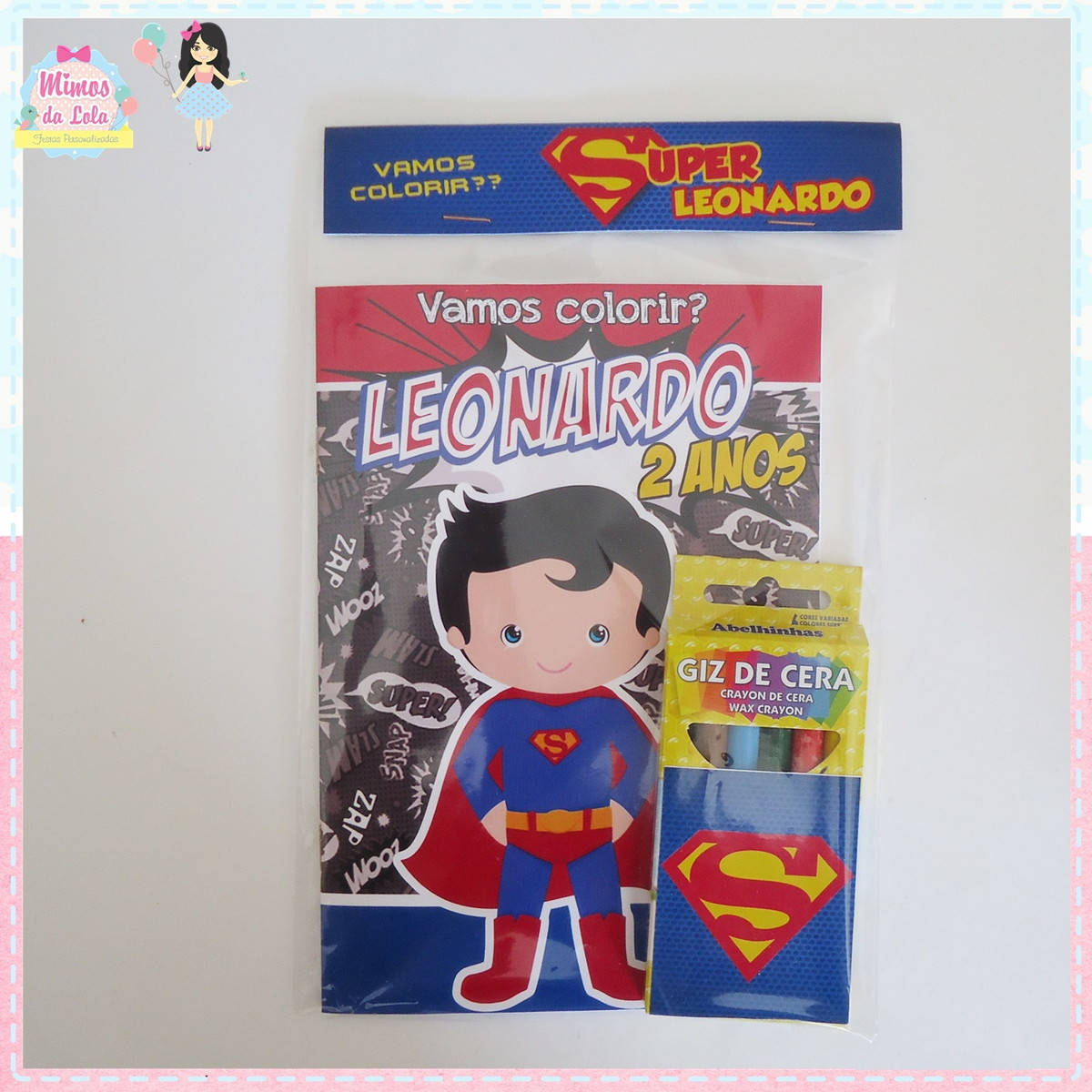 Kit Colorir Super Homem No Elo7 Mimos Lola 879e1d