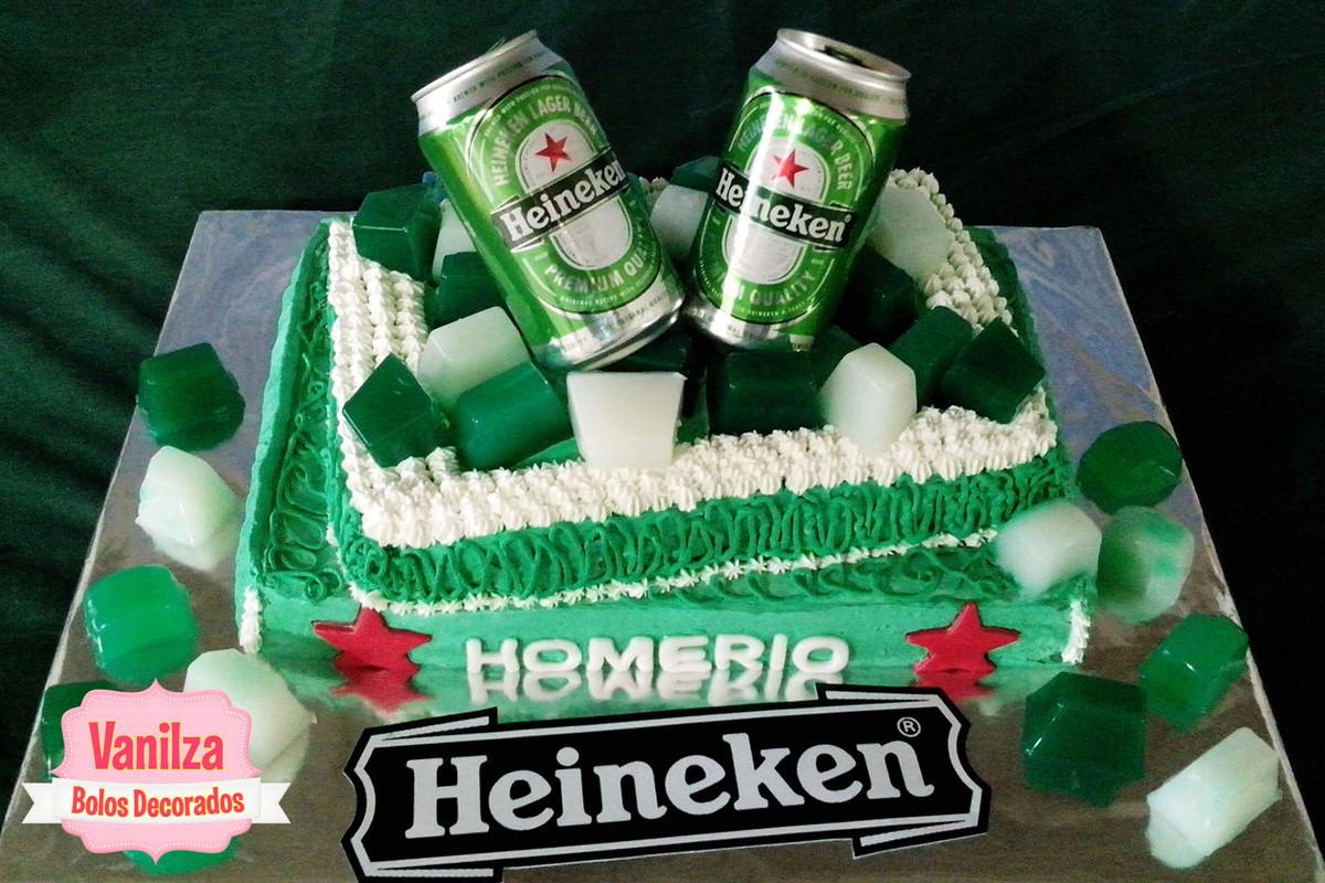 Well-known Bolo Decorado - Cerveja Heineken no Elo7   Vanilza Cristina da  GM04