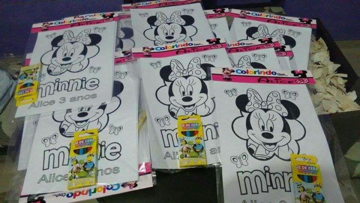 Desenhos Colorir Minnie Rosa No Elo7