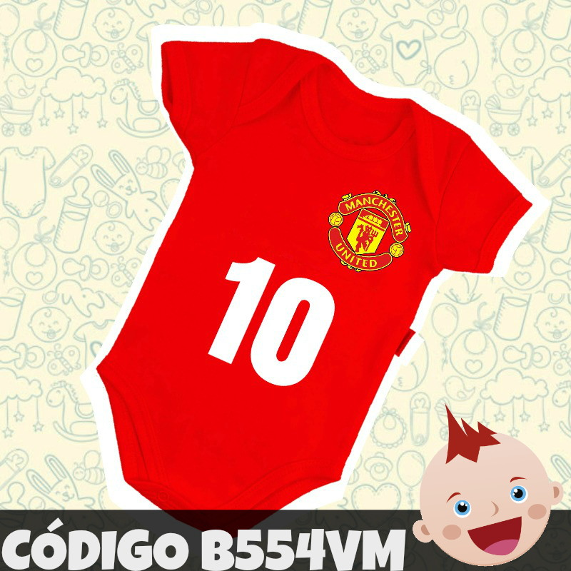 e261b24bf5 Body Infantil Bebê Manchester United Futebol B554VM no Elo7 ...