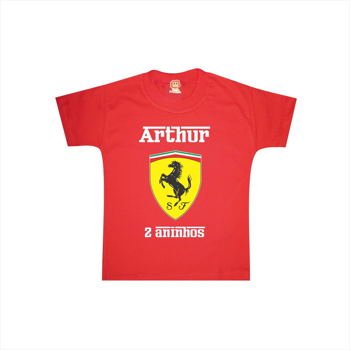 446191292d Camiseta Infantil Ferrari no Elo7