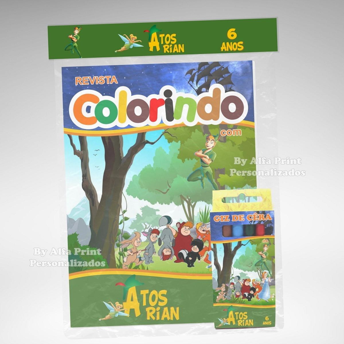 Kit Colorir Peter Pan Brindes No Elo7 Alfa Print