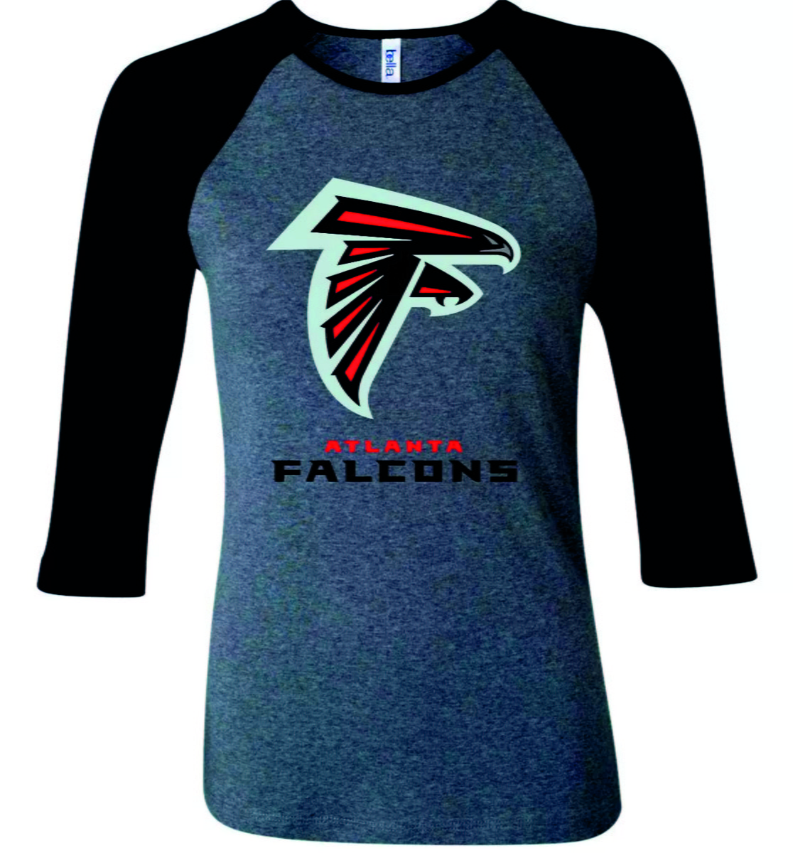 7c515ae230 Camiseta Raglan 3 4 Atlanta Falcons NFL no Elo7