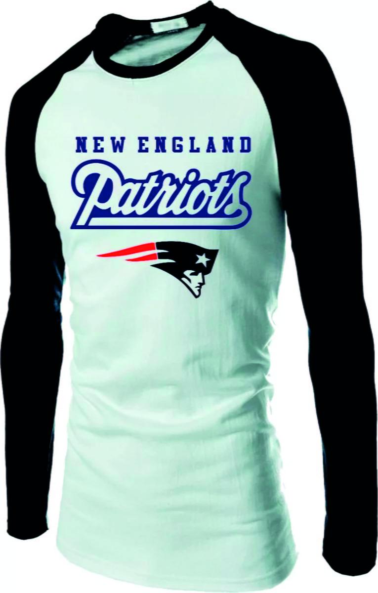 Camiseta Raglan Longa Patriots NFL no Elo7  7da1d290ec3