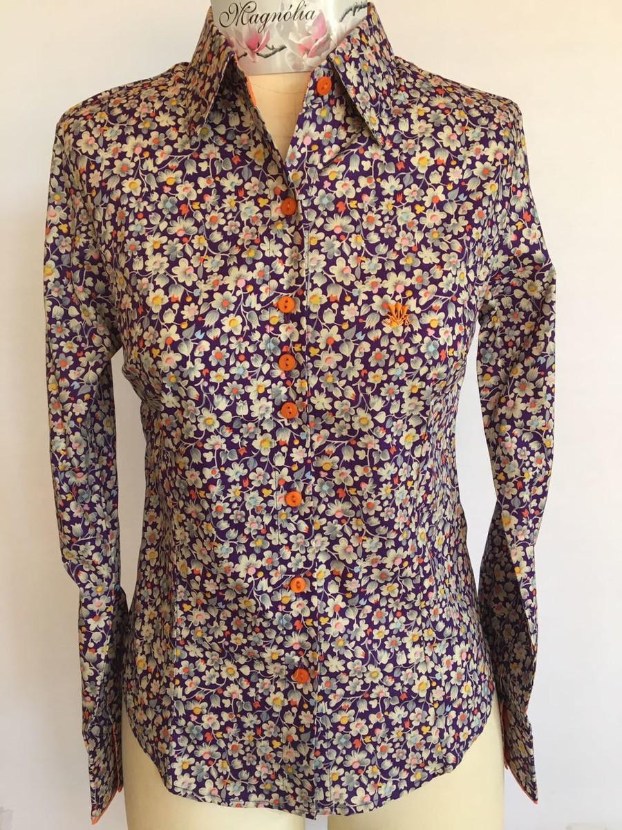 0d22c1b06 Camisa feminina manga longa Estampada 36 no Elo7 | Camisas Magnólia ...