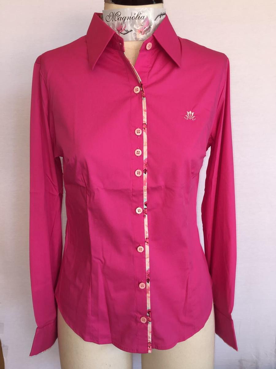 Camisa feminina manga longa Pink 38 no Elo7  ce1b5237f3ec3