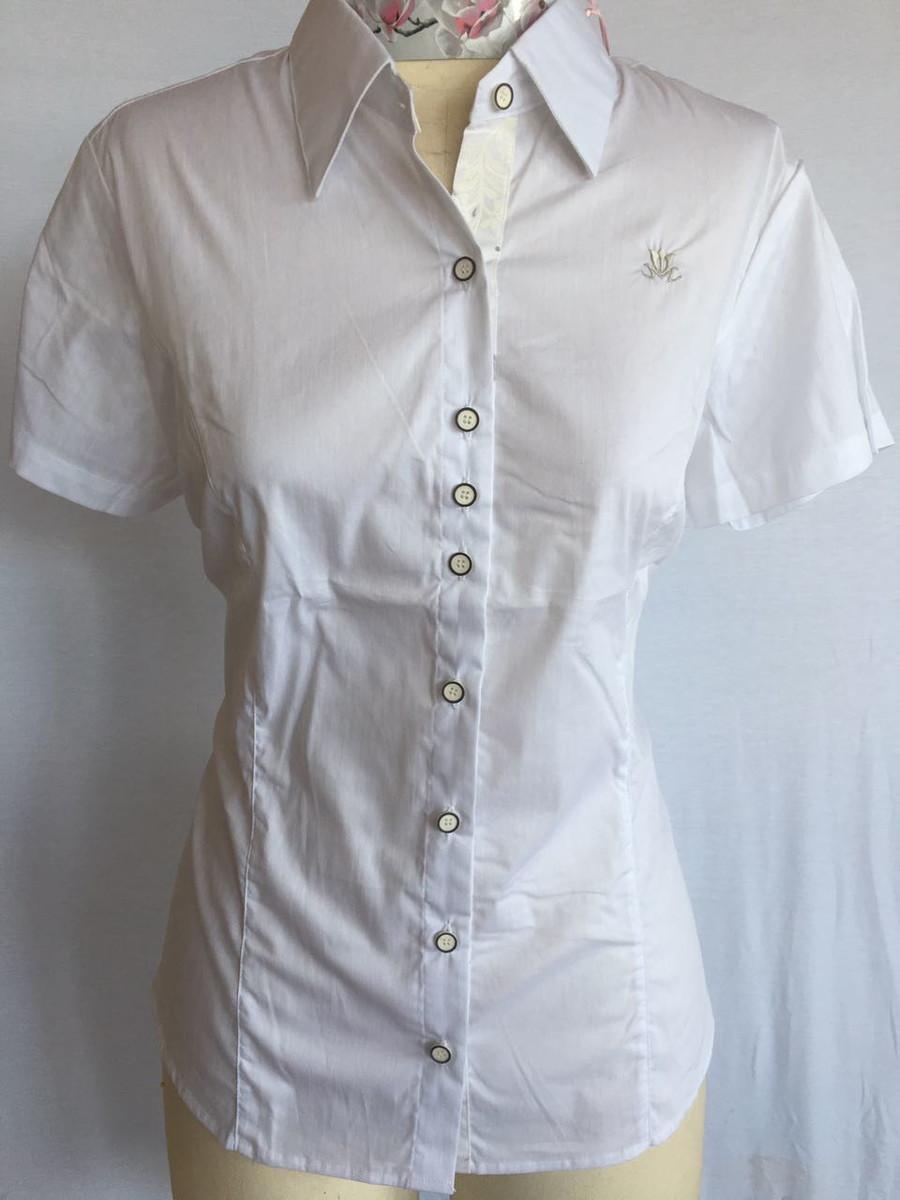 Camisa Feminina Manga Curta Branca 40 no Elo7  16e3507080b6f