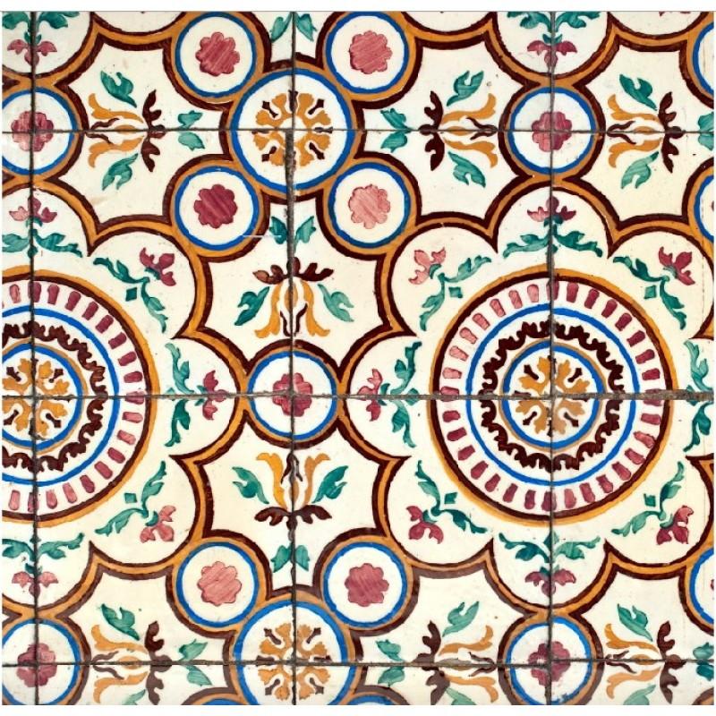 4ef3be935 Papel de Parede Azulejo Portugues Antigo no Elo7
