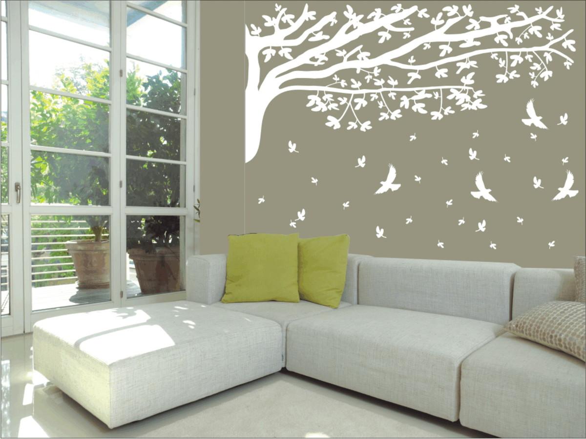 Arvore folhas caindo paredes decoradas frete gr tis elo7 - Papel de pared decorativo ...