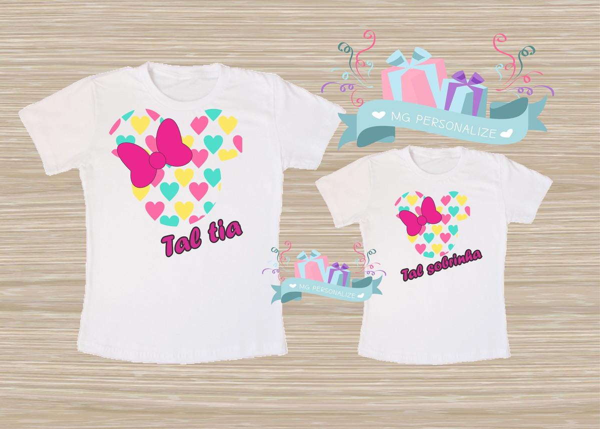 Kit De Camiseta Tal Tia Tal Sobrinha No Elo7 Mg Personalize 88c334