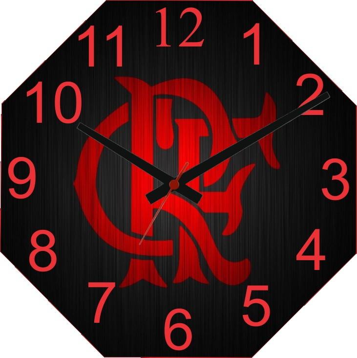 736e6c4a2830d Relógio Personalizado Time Flamengo no Elo7