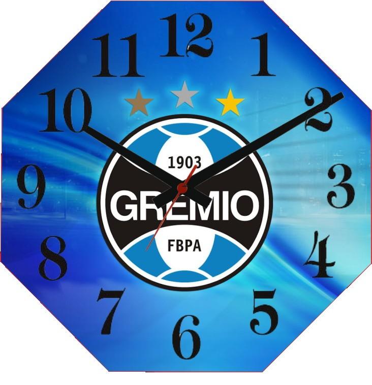 a49417cb62754 Relógio Personalizado Time Gremio no Elo7