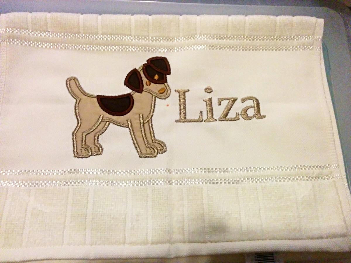 Toalha de lavabo Personalizada Fox Cão no Elo7  d5f68f8fa80