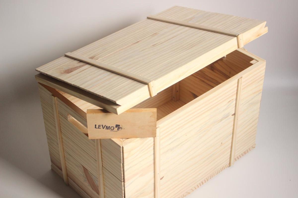 banco bau de madeira acabamento rustico madeirarustica #8F653C 1200x800