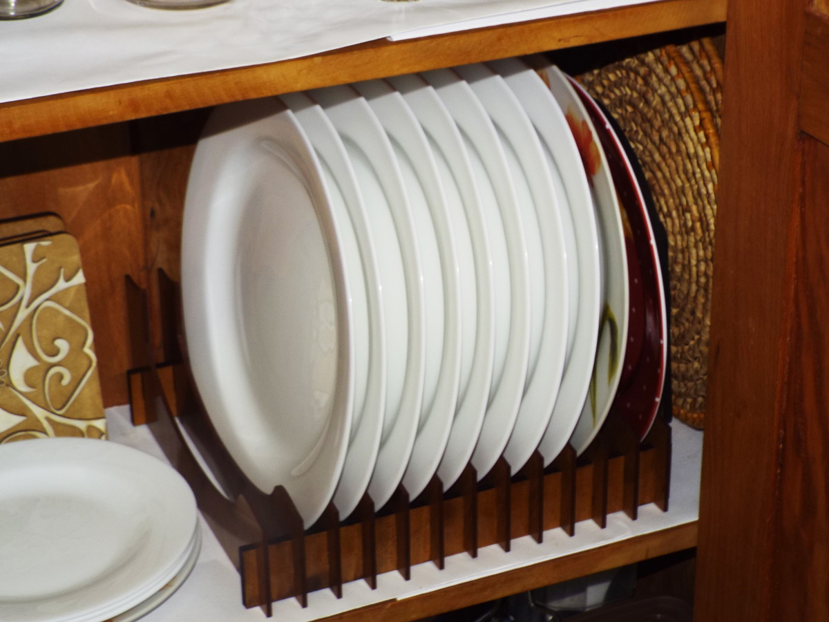 Organizador de pratos vertical 12 pratos no elo7 mudde - Organizador armario ...