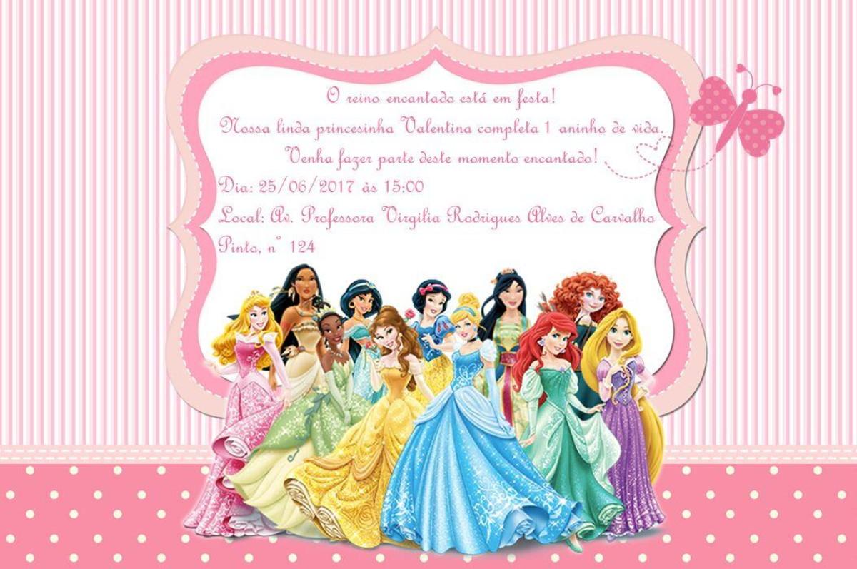 Convite Princesas Disney No Elo7 Cantinho Materno 890f58