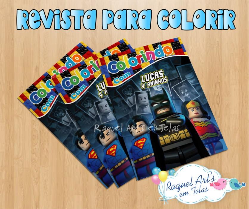 Revista De Colorir Liga Da Justica Lego No Elo7 Raquel Arts Em