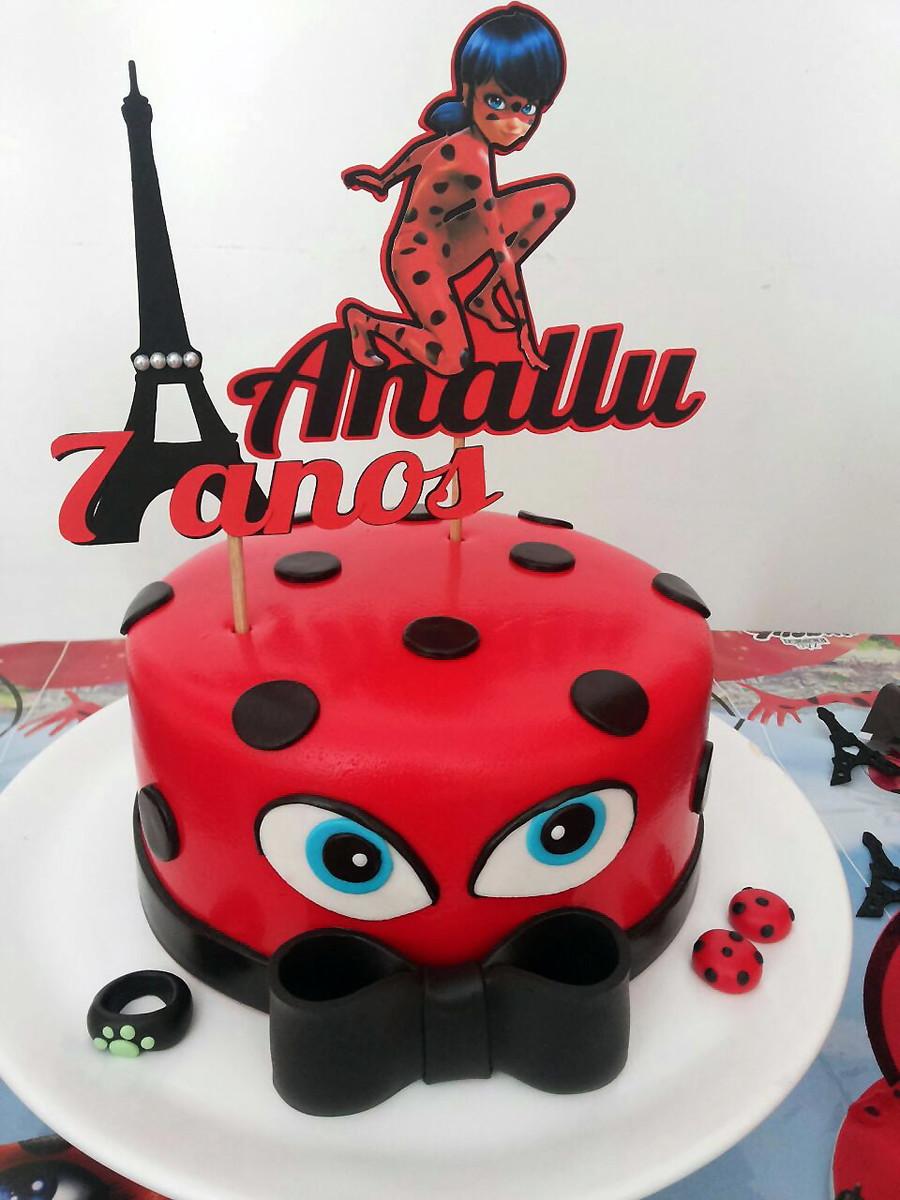 Cake Topper Ladybug No Elo7 Glamour Personalizados 8a084e