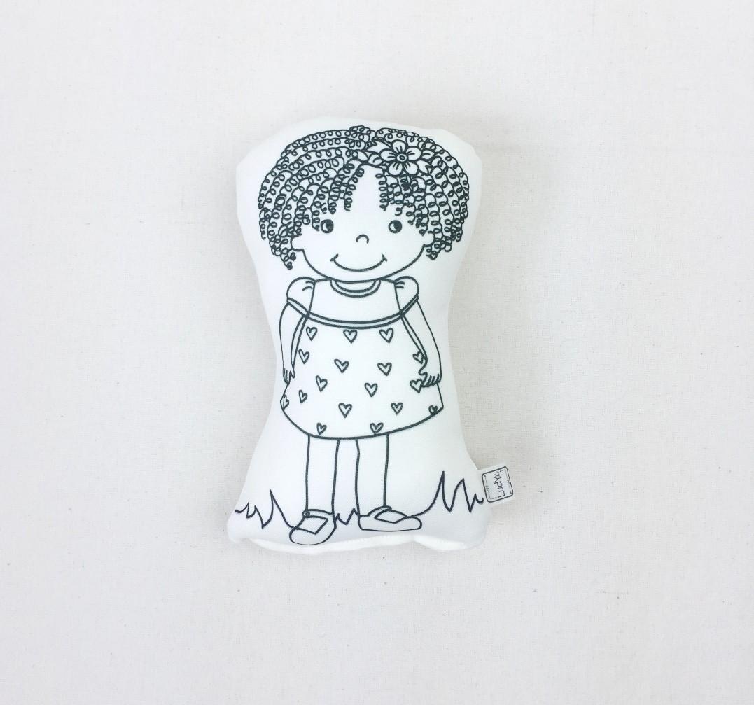 Boneca De Colorir Menina Kitty M No Elo7 Ludyx Brinquedos