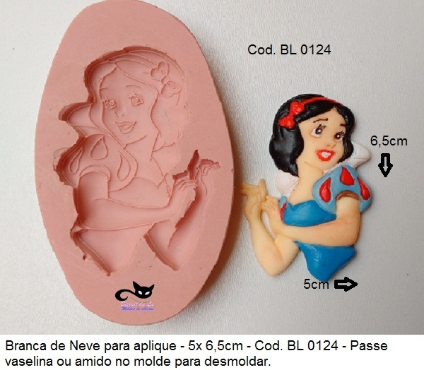 Molde De Silicone Princesa Branca De Neve Cod Bl0124 No Elo7