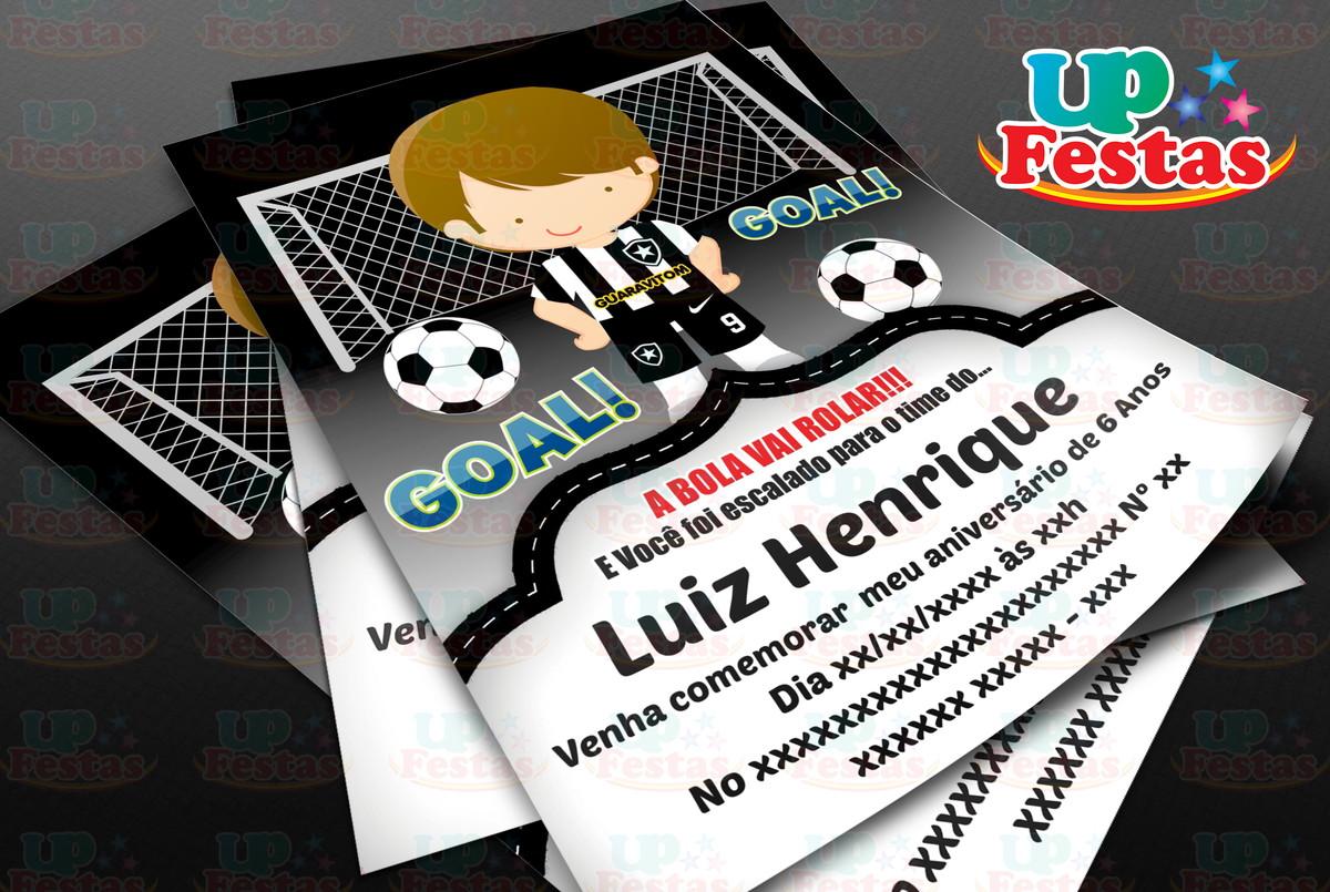 dce49d0a1f Convite Digital - Futebol Botafogo no Elo7