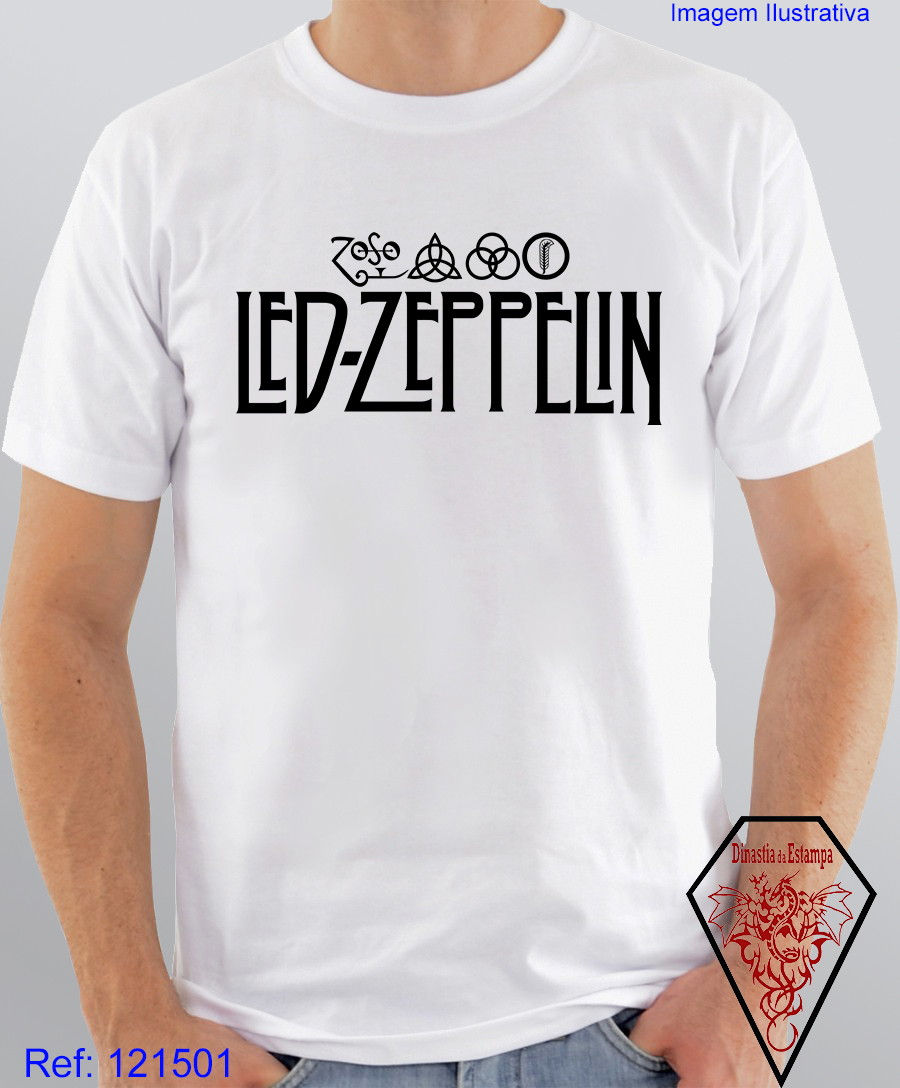c60738805 Camiseta Banda Rock Led Zeppelin Anos 80 no Elo7